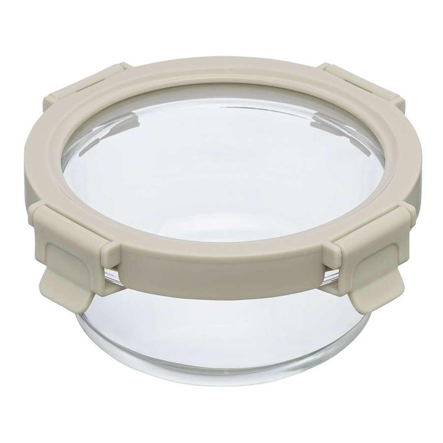 Контейнер для еды стеклянный 400 мл светло-бежевый SMART SOLUTIONS ID400RD_7534C