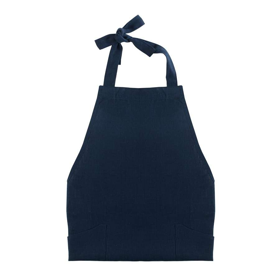 Фартук из умягченного льна темно-синего цвета TKANO TK18-AP0006
