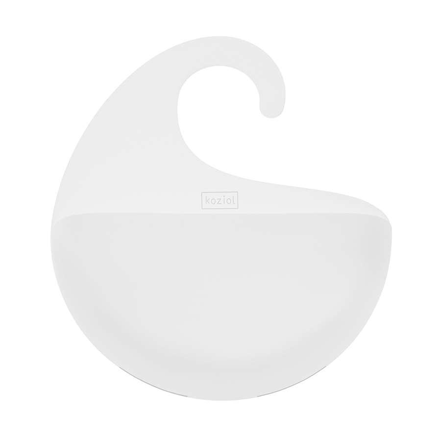 Органайзер для ванной SURF M, белый  KOZIOL  2845525