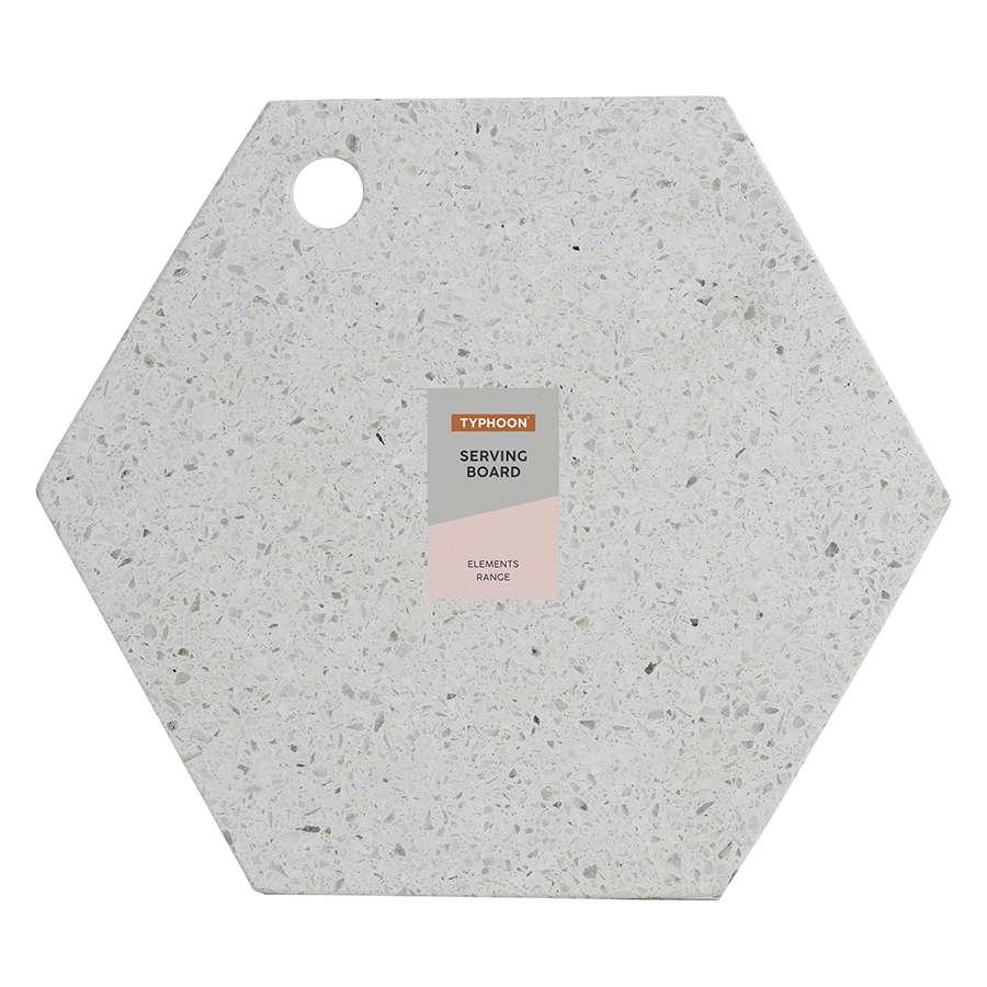 Доска сервировочная из камня Elements Hexagonal 30 см TYPHOON 1401.044V