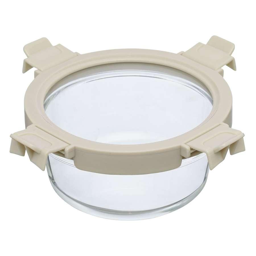 Контейнер для еды стеклянный 650 мл светло-бежевый SMART SOLUTIONS ID650RD_7534C
