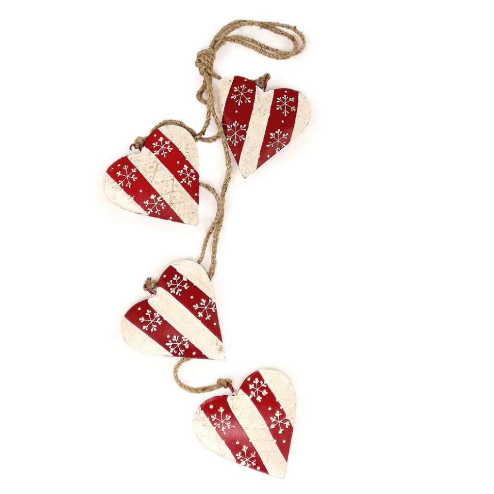Гирлянда подвесная Christmas Hearts, 4 шт. ENJOYME  en_ny0006