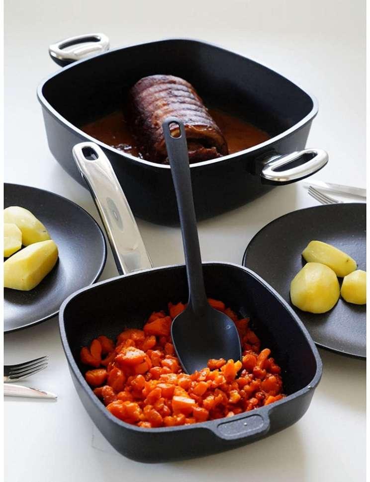 Сковорода квадратная с несъемной ручкой BAF Gigant Newline 24х24 см 5001 14 24 0