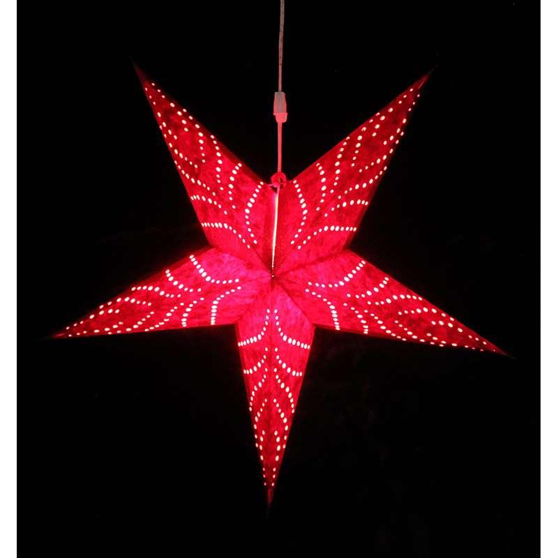 Светильник подвесной Star с кабелем 3,5 м и патроном под лампочку E14, 60 см., красный ENJOYME  en_ny0062