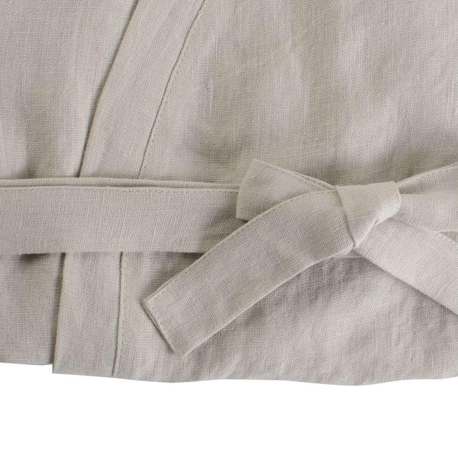 Халат из умягченного льна бежевого цвета М TKANO TK18-BR0002