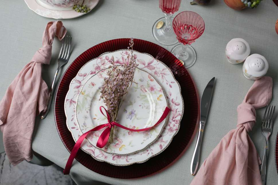 Обеденный сервиз Цветы 27 предметов на 6 персон ANNA LAFARG EMILY AL-M2124_27-E9