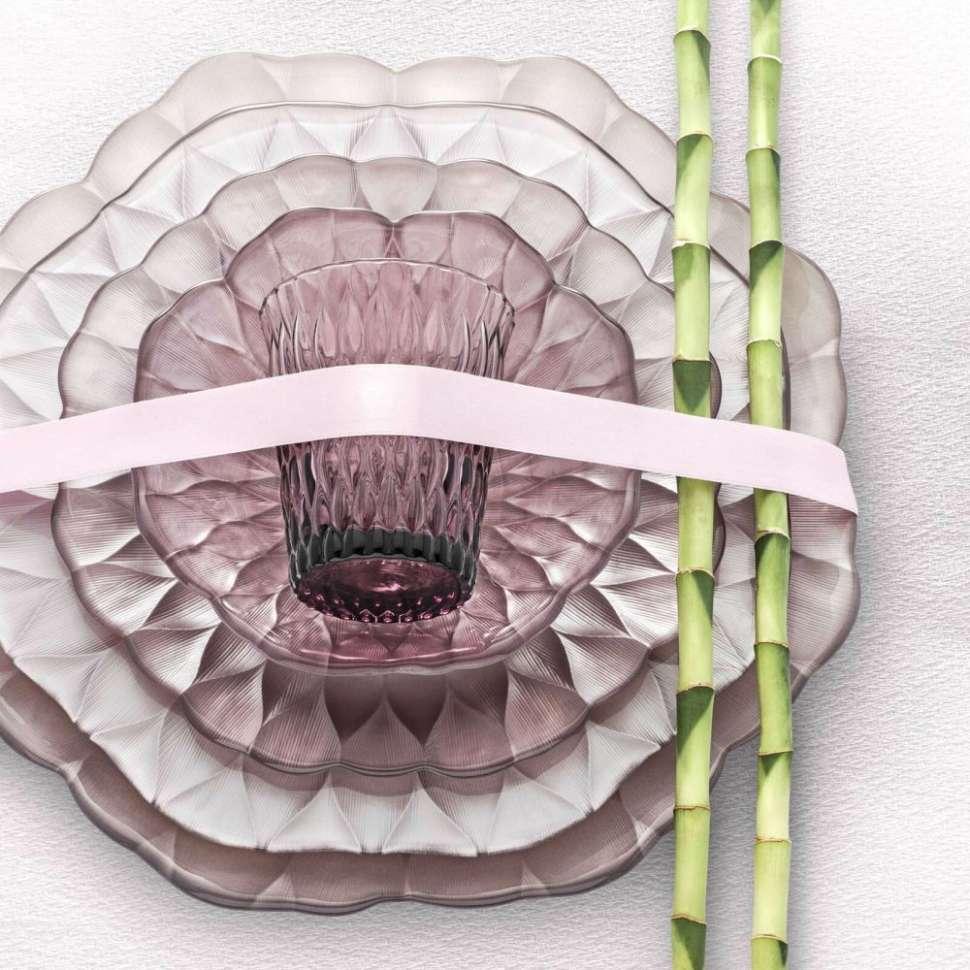Тарелка плоская большая 26 см Розовая LOTO IVV 6787.7