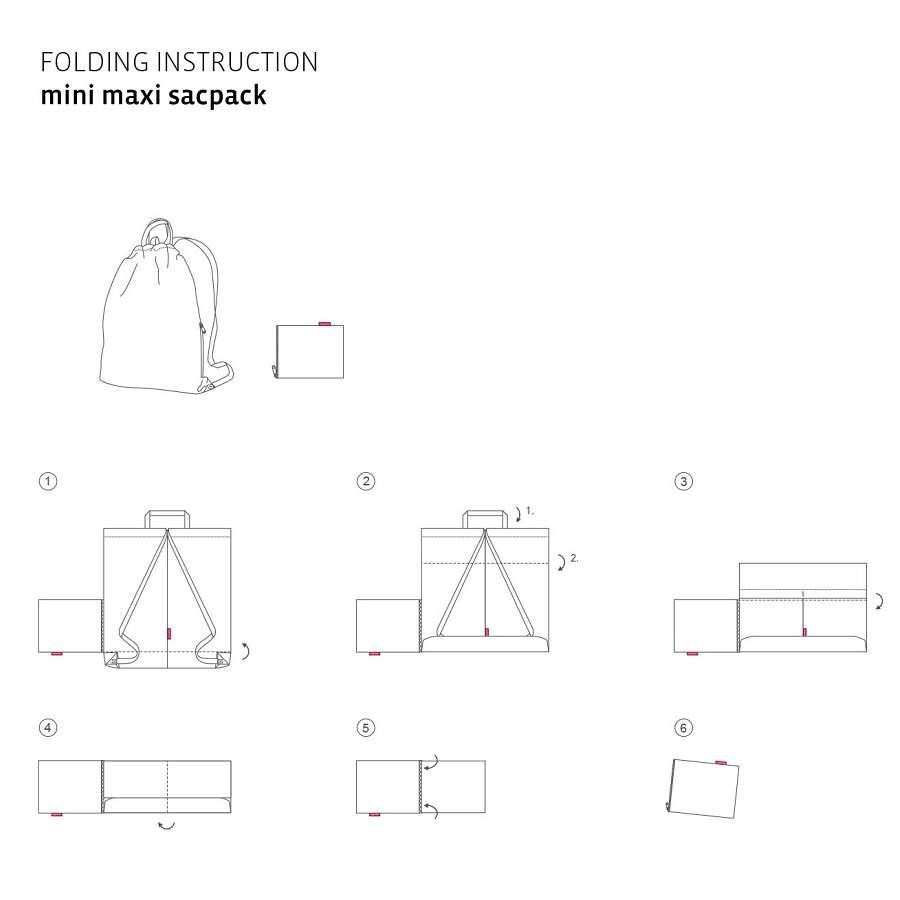Рюкзак складной Mini maxi sacpack black REISENTHEL AU7003