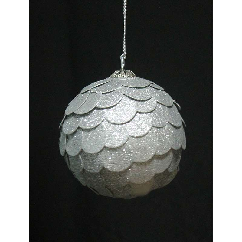 Шар новогодний декоративный Paper ball, серебряный ENJOYME  en_ny0073