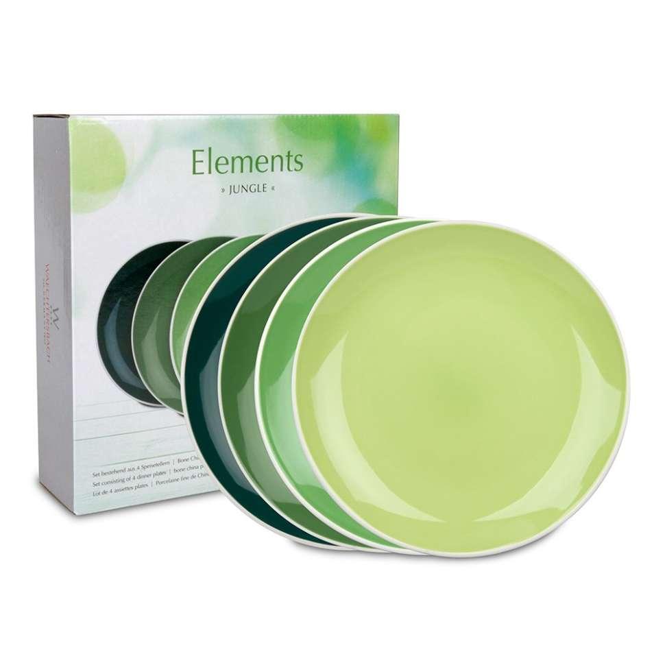 "Набор 4-х больших тарелок ""Джунгли"" WAECHTERSBACH 41 5 974 1000"