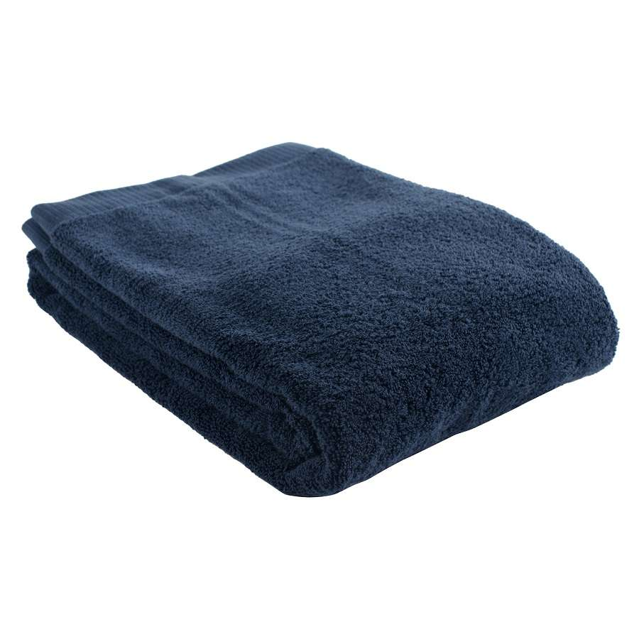 Полотенце банное темно-синего цвета TKANO TK18-BT0013