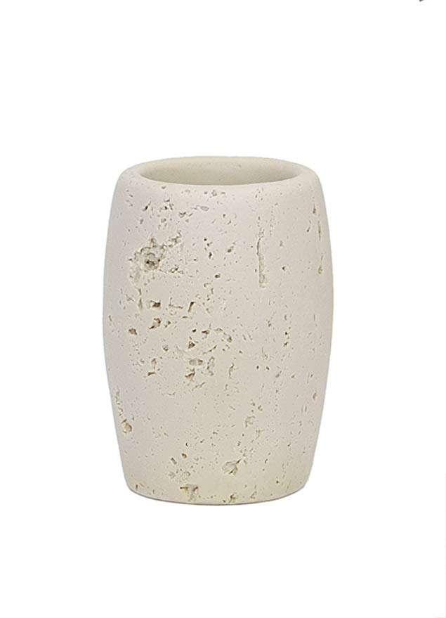 Стакан для зубных щеток Travertino Beige Stone ANDREA HOUSE BA60352