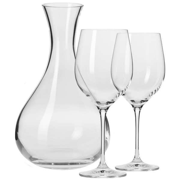 Набор из декантера 1,6 л и 2 бокалов для красного вина Krosno Гармония 450мл, п/к
