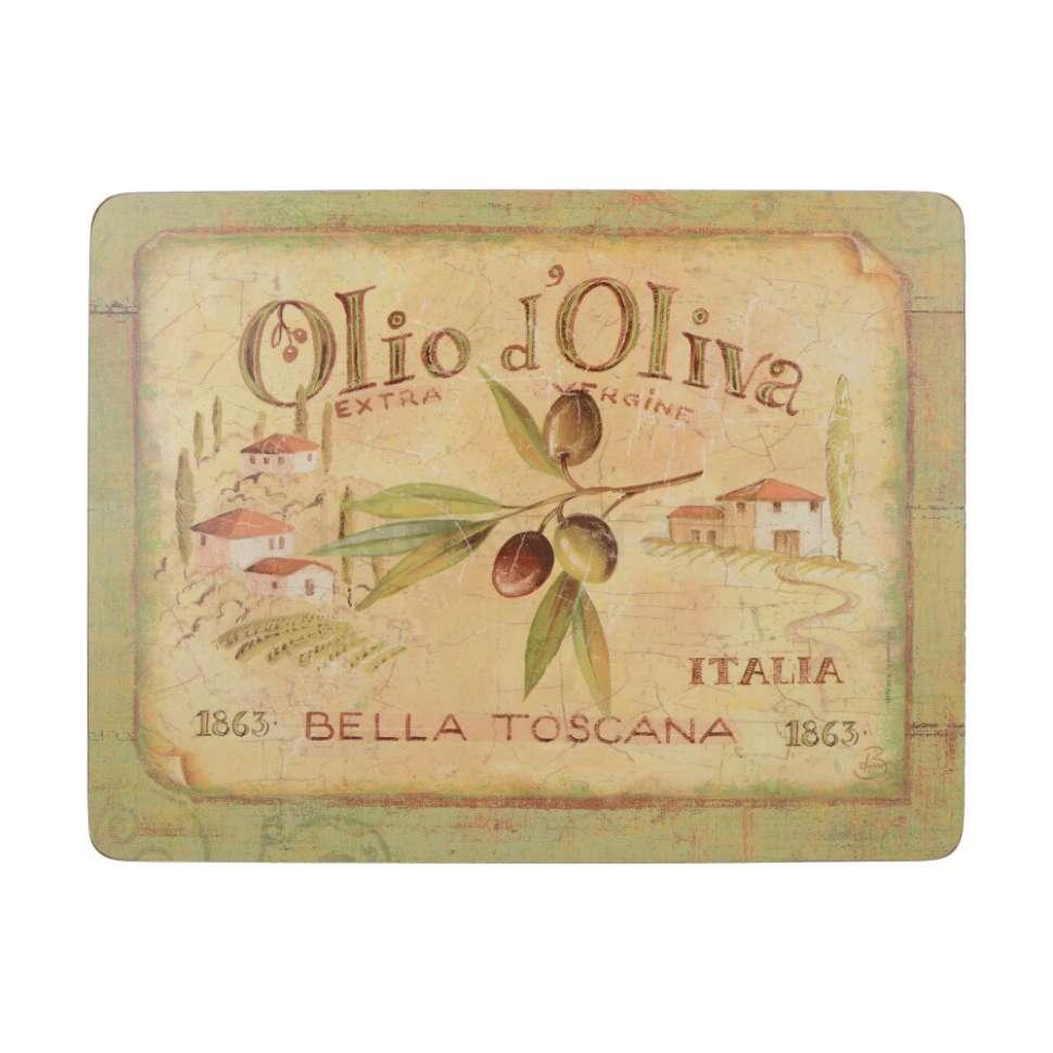 """Набор 6 подставок """"OLIO D OLIVA"""" 22.8х30 CREATIVE TOPS 5169668"""