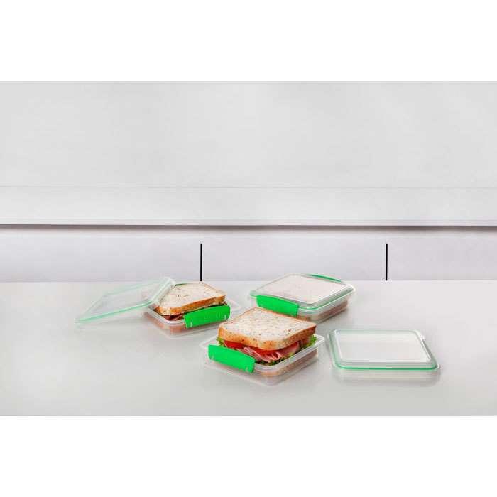 Набор контейнеров для сэндвичей Fresh (3 шт.) 450 мл  SISTEMA  951643