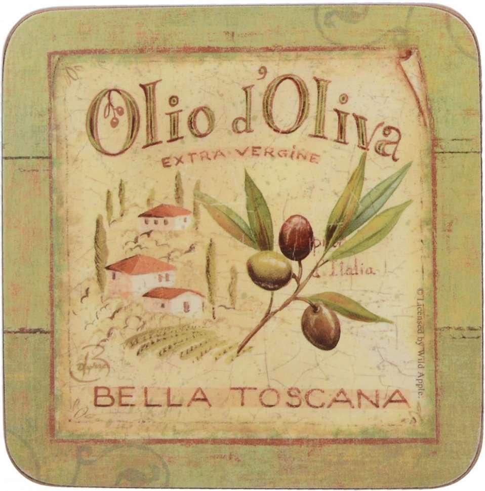"""Набор 6 подставок """"OLIO D OLIVA"""" 10.5х10.5 CREATIVE TOPS 5169653"""