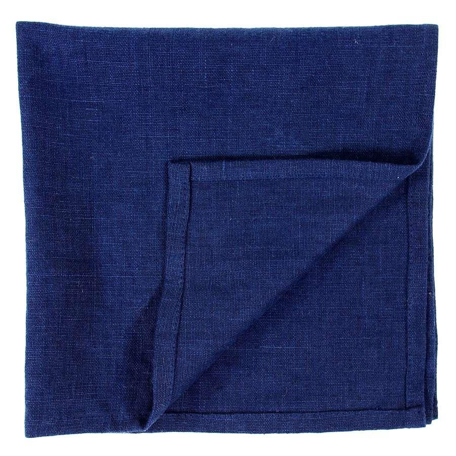 Сервировочная салфетка из умягченного льна темно-синего цвета TKANO TK18-NA0010