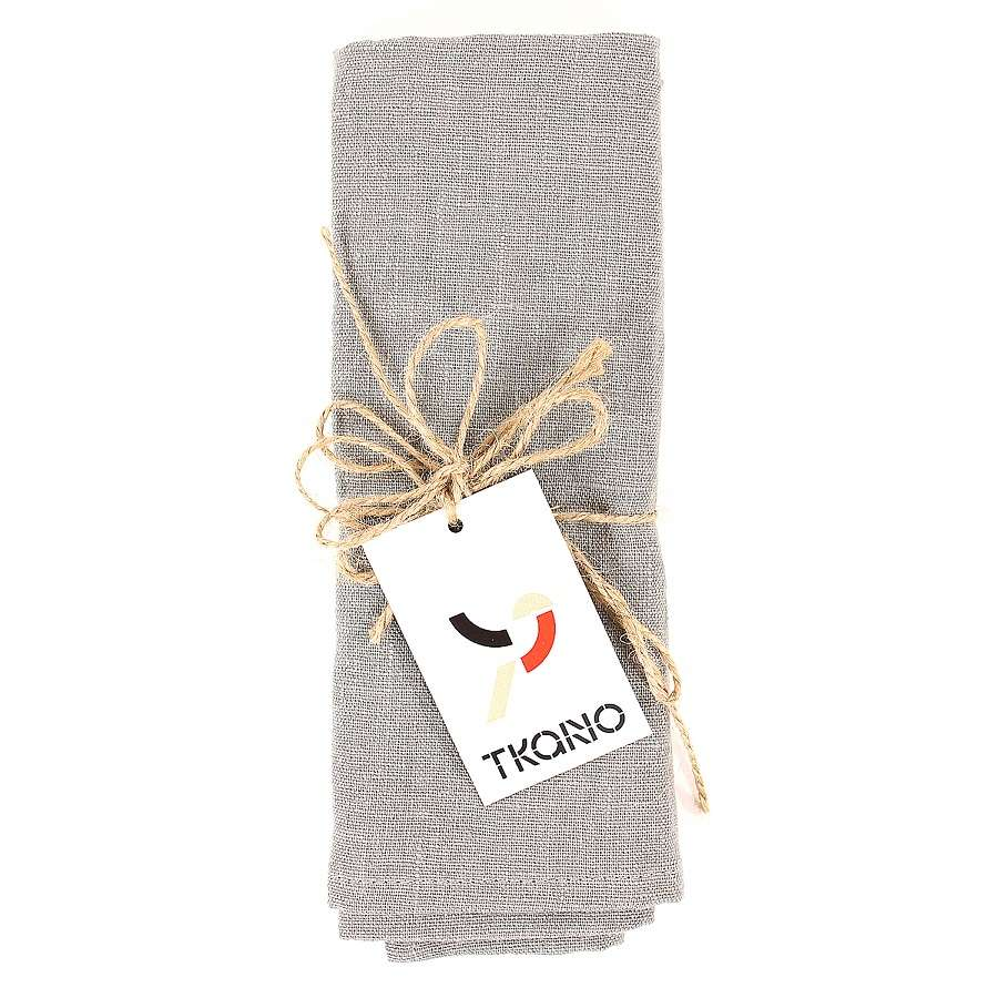 Сервировочная салфетка из умягченного льна серого цвета TKANO TK18-NA0009