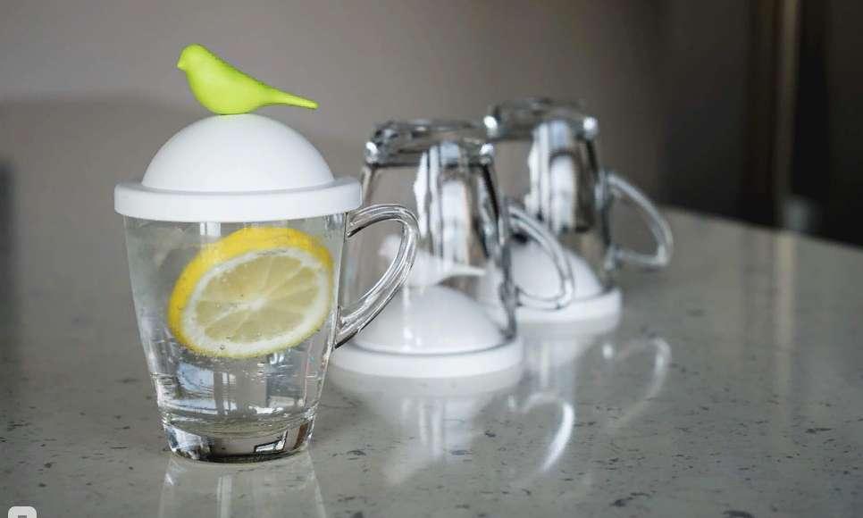 Чашка с крышкой Sparrow, белая с черным QUALY QL10300-WH-BK