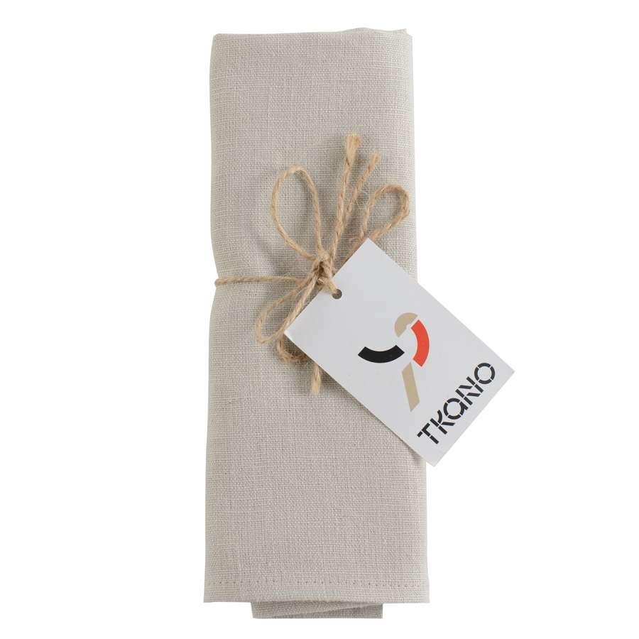 Сервировочная салфетка из умягченного льна бежевого цвета TKANO TK18-NA0008