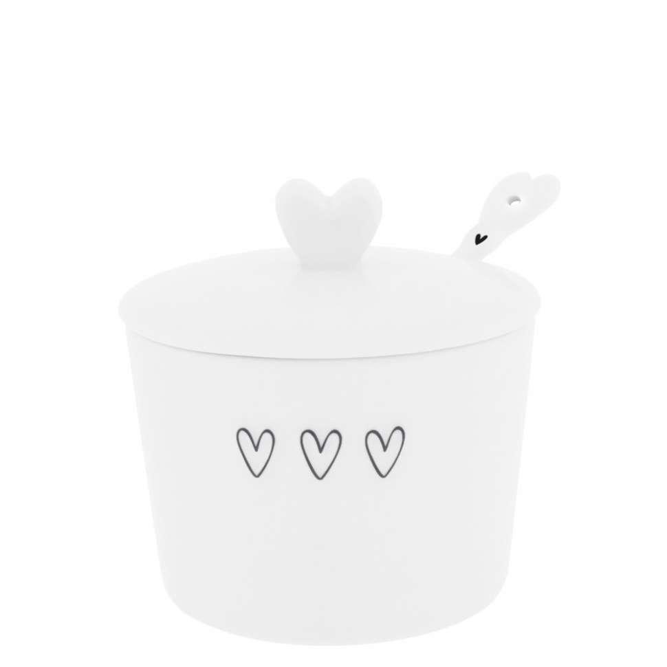 Сахарница с ложкой White 3 Нearts Spoon Black BASTION COLLECTIONS LI/SUGAR 001 BL