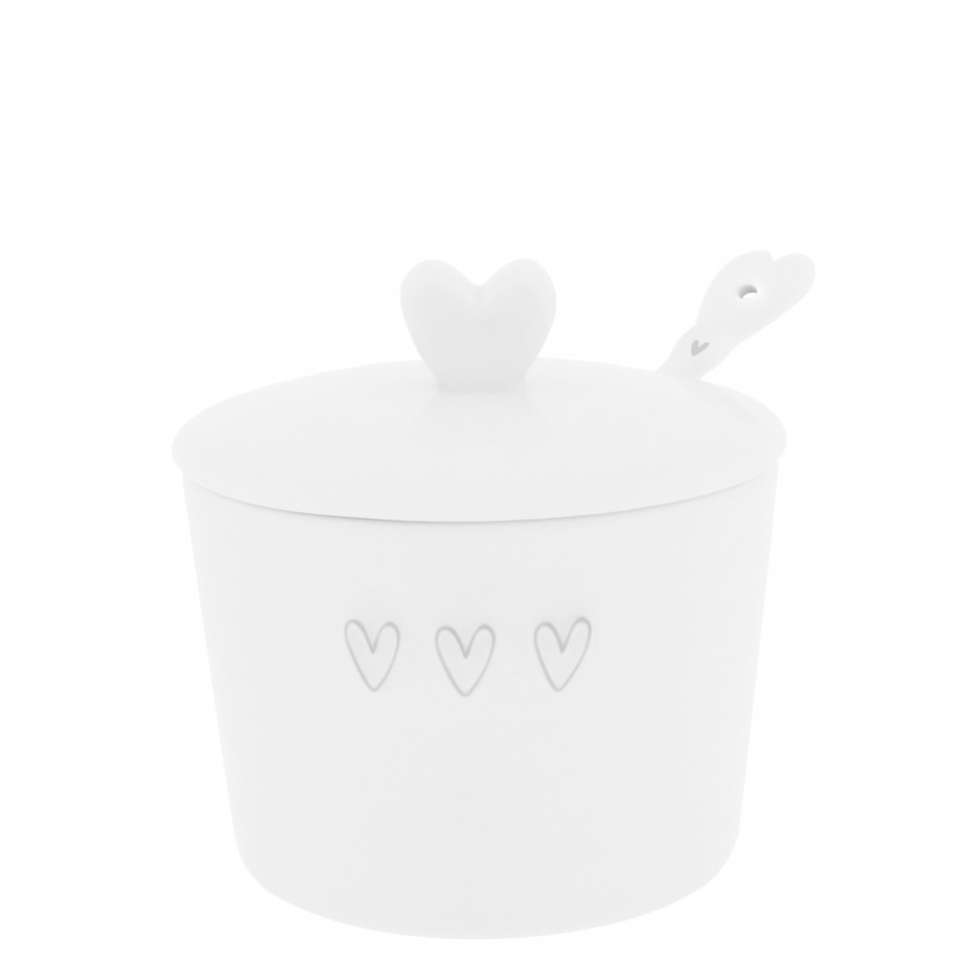 Сахарница с ложкой White 3 Нearts Spoon Grey BASTION COLLECTIONS LI/SUGAR 001 GR
