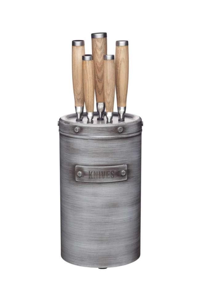 Набор из 5-ти ножей с блоком для хранения Industrial Kitchen KITCHEN CRAFT INDKNB