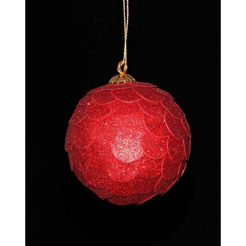 Шар новогодний декоративный Paper ball, красный ENJOYME  en_ny0071