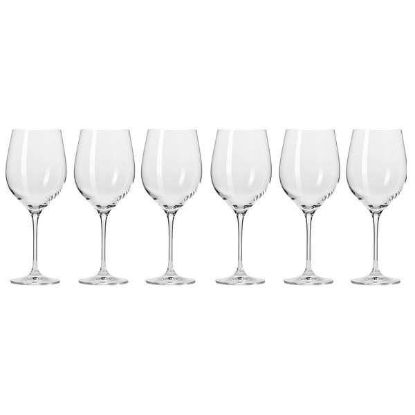 """Набор бокалов для красного вина Krosno """"Гармония"""" 450мл, 6 шт"""