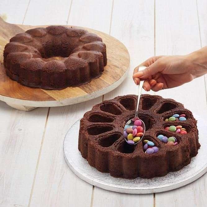 """Набор из двух форм для торта """"Сюрприз"""" круглые Sweetly Does It KITCHEN CRAFT SDIFILLHEART"""