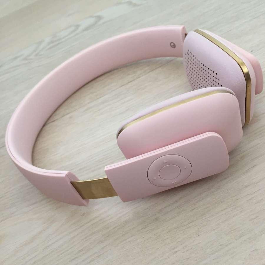 Наушники беспроводные aHEAD светло-розовые KREAFUNK Kfss06