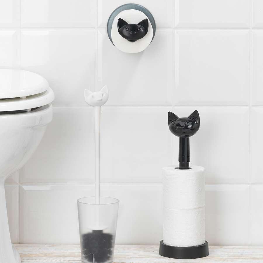 Держатель для туалетной бумаги MIAOU черный KOZIOL 5221526
