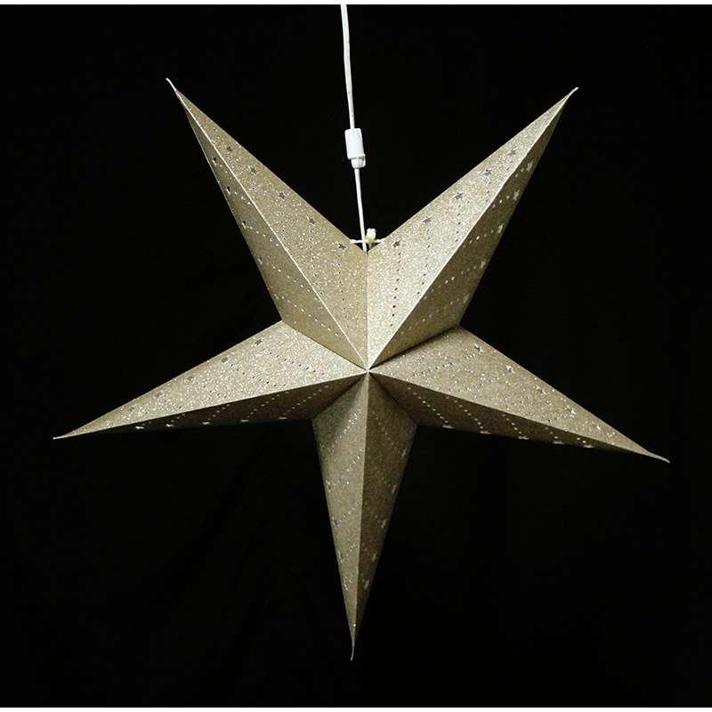 Светильник подвесной Star с кабелем 3,5 м и патроном под лампочку E14, 60 см., золотой ENJOYME  en_ny0066