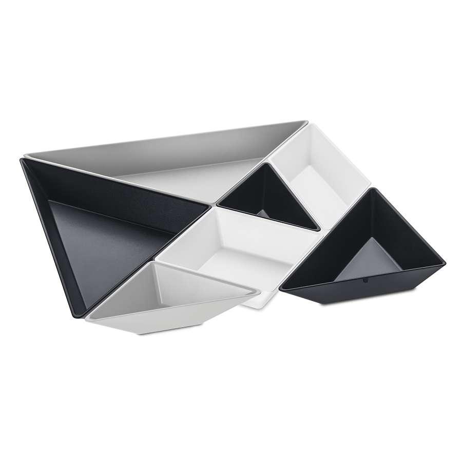 Менажница TANGRAM READY черная-белая-серая KOZIOL 3480334
