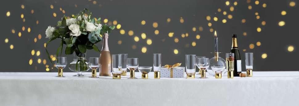 Набор бокалов для шампанского Gold Club, 200 мл, 2 шт. SAGAFORM 5009118