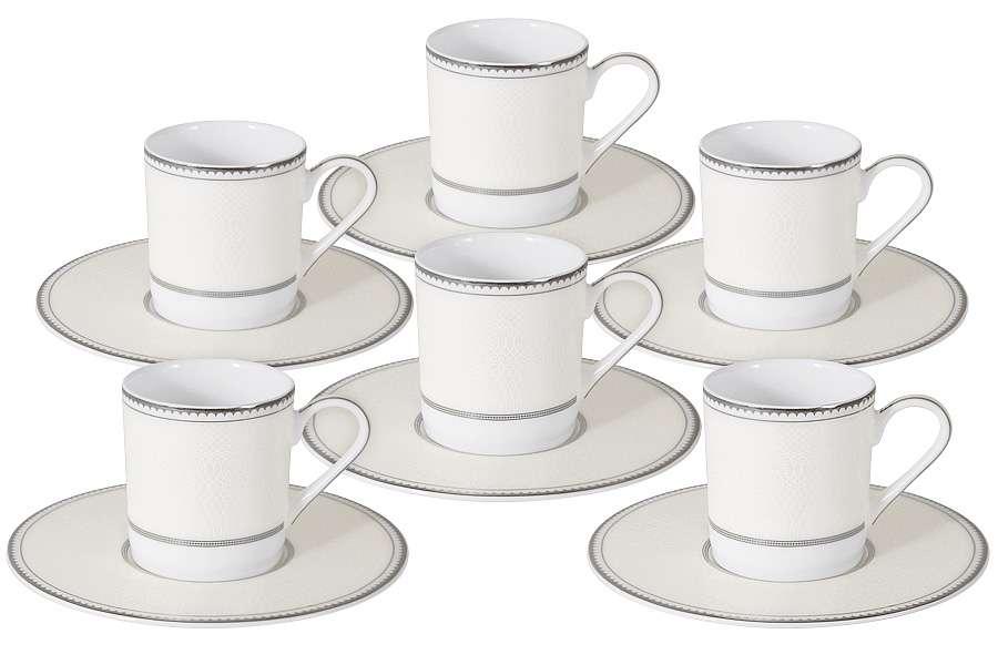 Кофейный набор Жемчуг: 6 чашек + 6 блюдец NAOMI NG-I150905B-C6-AL