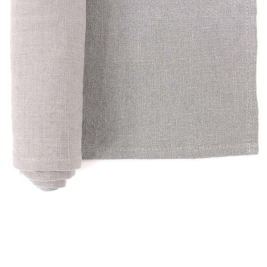 Дорожка на стол из умягченного льна серого цвета TKANO TK18-TR0008