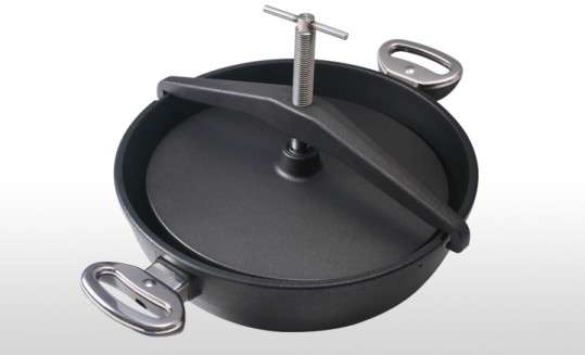 Сковорода c прессом и винтом для цыпленка табака BAF Gigant Newline Induction 28 см 5001 13 28 5-I