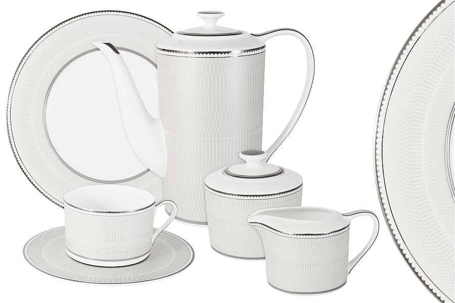 Чайный сервиз Жемчуг 21 предмет на 6 персон NAOMI NG-I150905B-21-AL