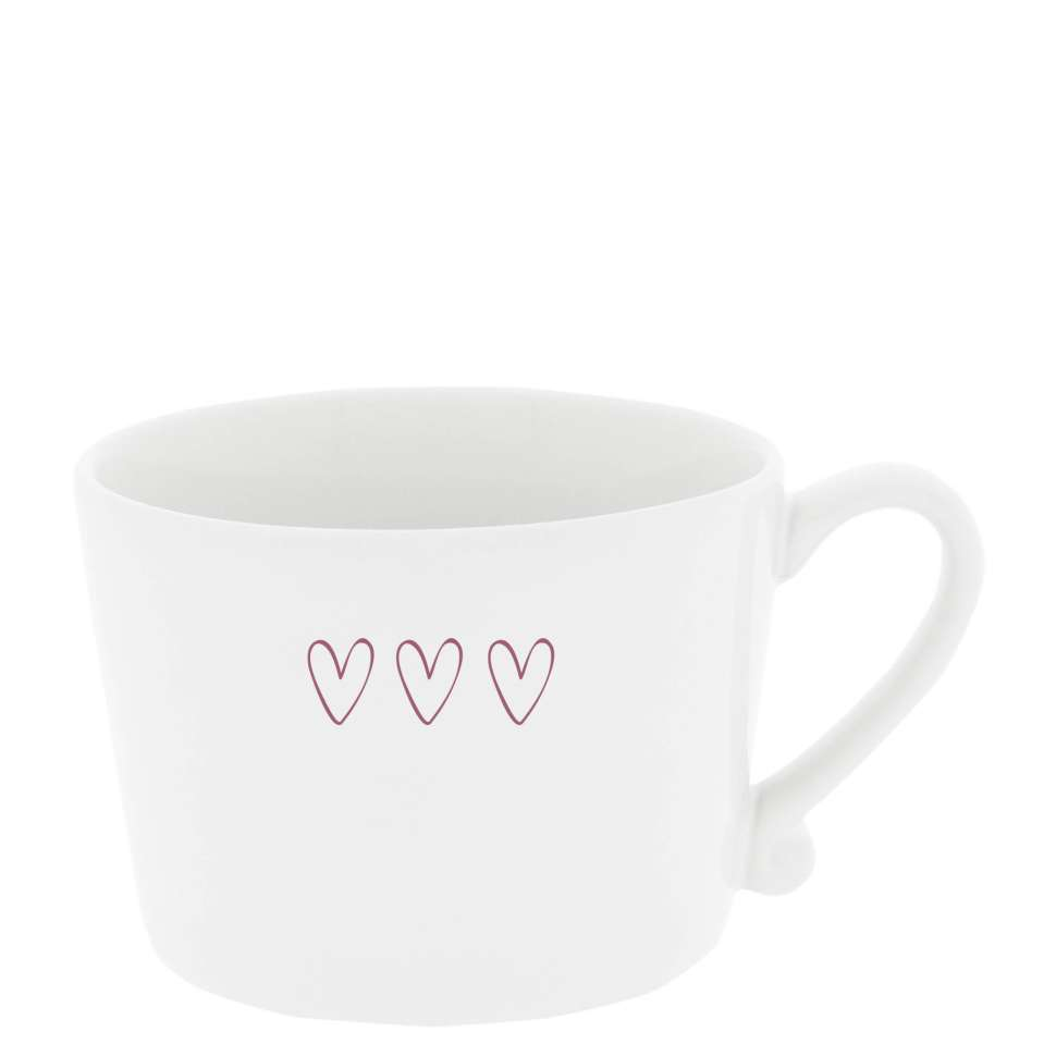 Кружка White 3 Нearts Red BASTION COLLECTIONS RJ/CUP 001 RED