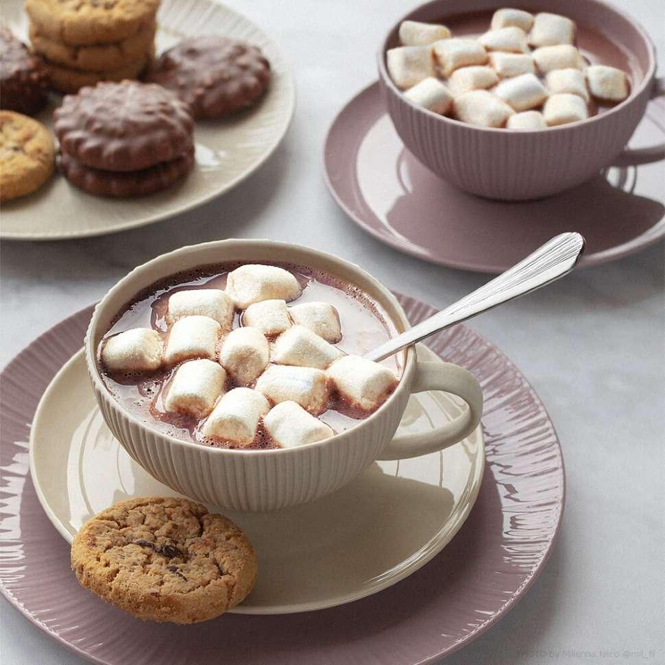 Чашка с блюдцем (карамель) в подарочной упаковке Cocoa & Caramel HOME & STYLE HS4-G099-4G3S