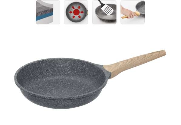 Сковорода с антипригарным покрытием, 24 см, MINERALICA (Минералика)