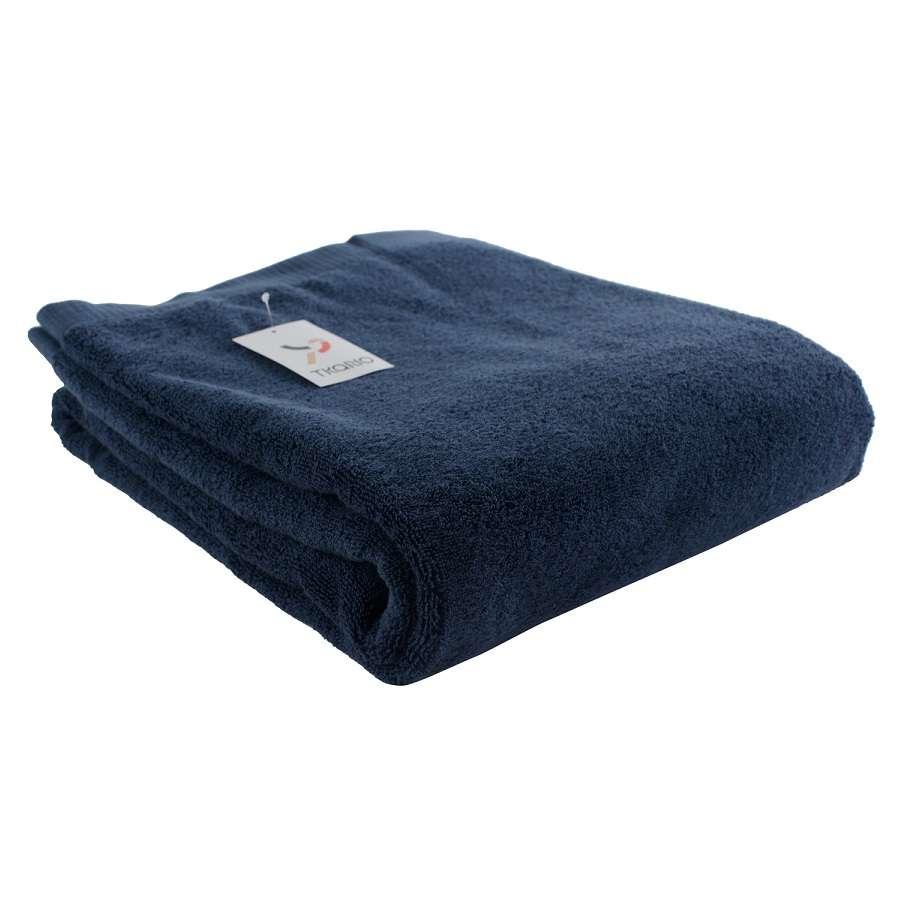 Полотенце банное темно-синего цвета TKANO TK18-BT0018