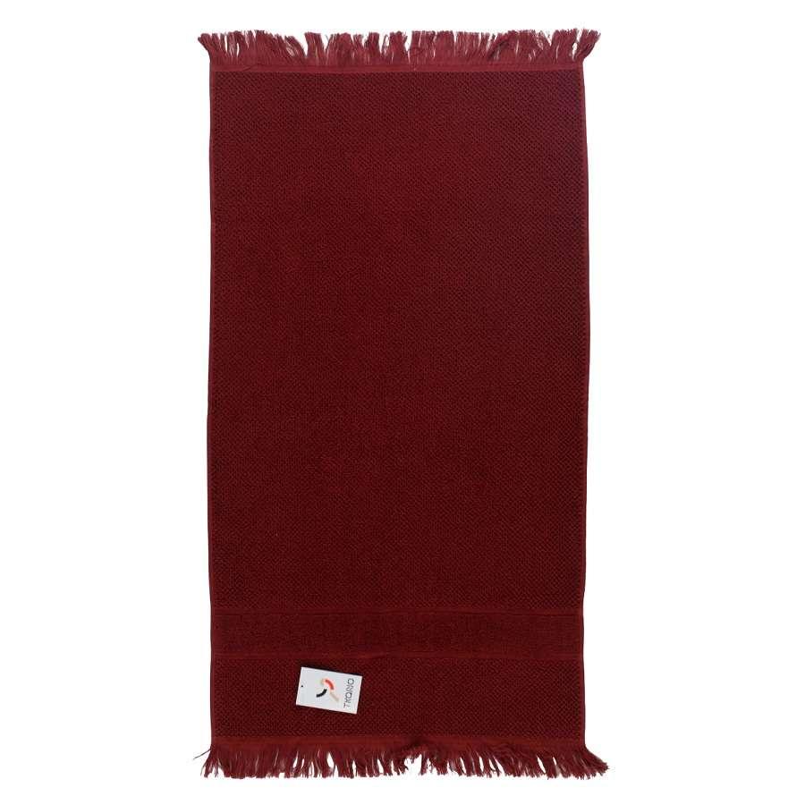 Полотенце для рук декоративное с бахромой бордового цвета TKANO TK18-BT0026