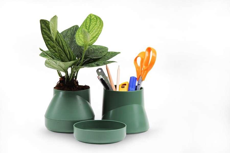 Горшок цветочный Hill Pot, большой, зеленый QUALY QLX20002-GN