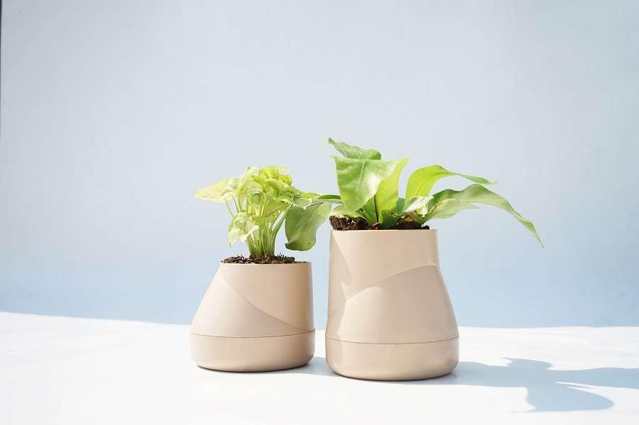 Горшок цветочный Hill Pot, большой, кремовый QUALY QLX20002-CR