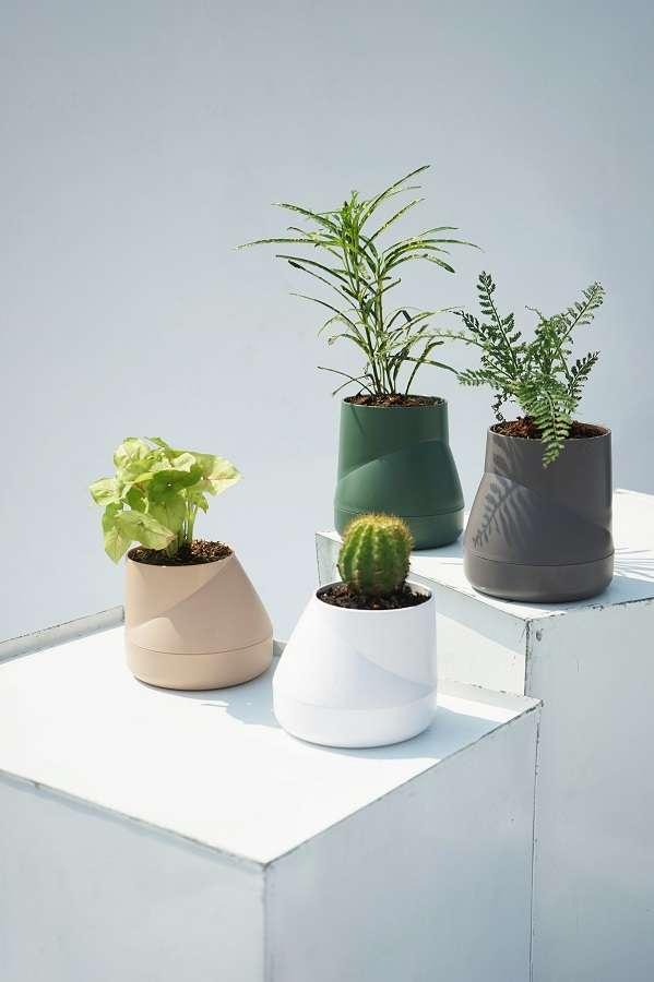 Горшок цветочный Hill Pot, большой, серый QUALY QLX20002-GY