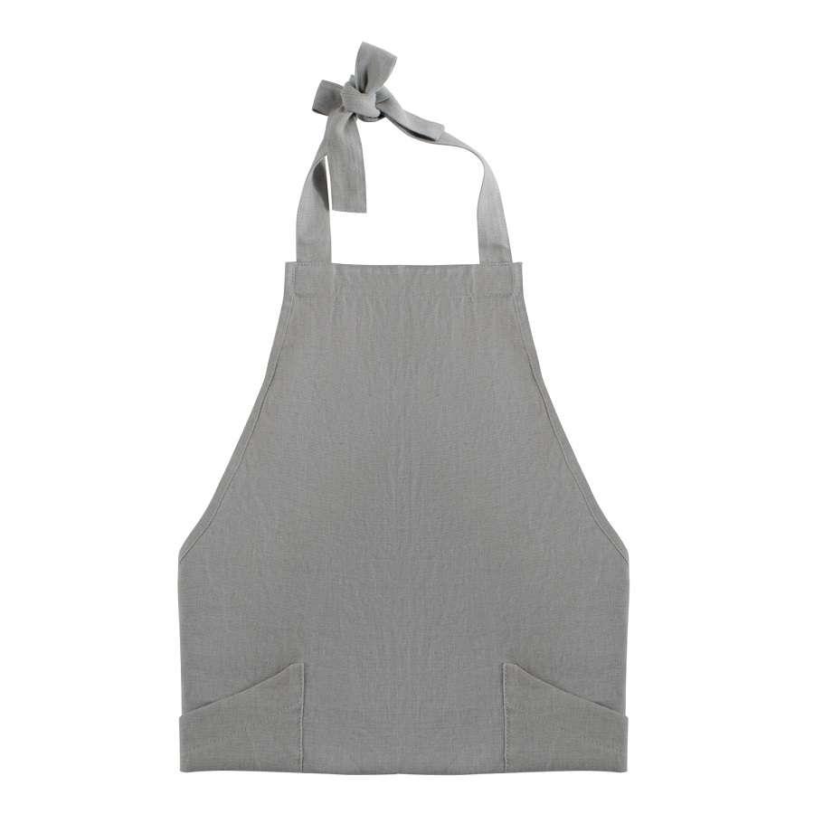 Фартук из умягченного льна серого цвета TKANO TK18-AP0005