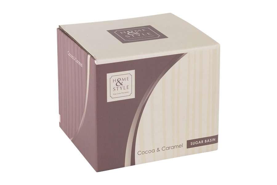 Сахарница (карамель/какао) в подарочной упаковке Cocoa & Caramel HOME & STYLE HS4-G099-3G2G3S
