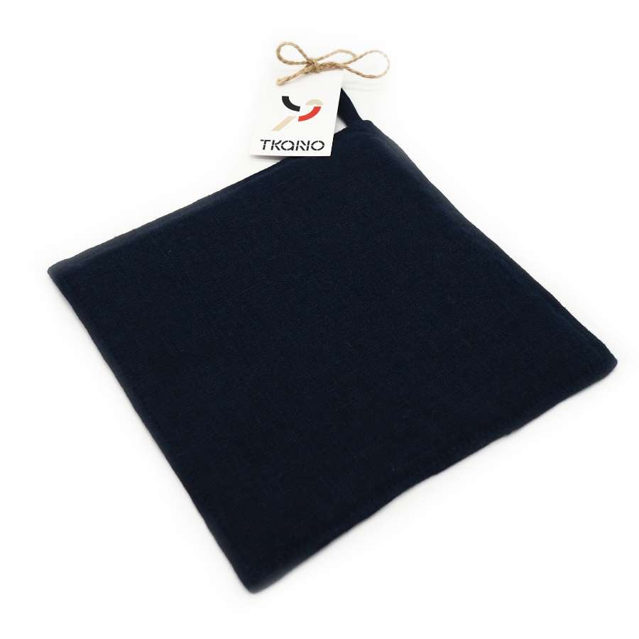 Прихватка из умягченного льна темно-синего цвета TKANO TK18-PH0008